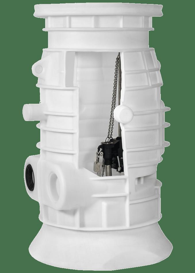 Abwasserpumpstation und Rückstausicherung - Einzelanlage für Abwasser-min
